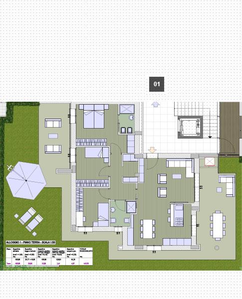 Me bo villa umbria for Planimetrie ville moderne